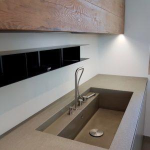 Blocco Piano Lavoro Lavabo Pietra Integrato Open Space Igea Marina