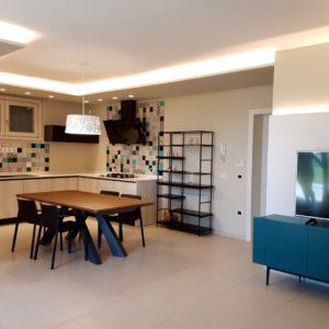 Cucina Dining Cartongesso Led Madia Tv Residenza Cesenatico