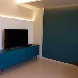 Living Madia Cartongesso Led–tv Residenza Cesenatico